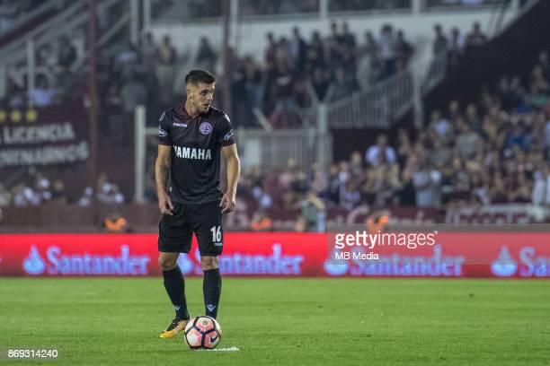 OCTOBER 31 Lanus Alejandro Silva during the Copa Libertadores semi finals 2nd leg match between Lanus and River Plate at Estadio Ciudad de Lanús...
