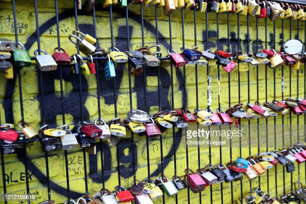 Lanyard keychain of the Signal Iduna Park on March 13, 2020 in Various Cities, Germany. The German football league DFL announced today that the...