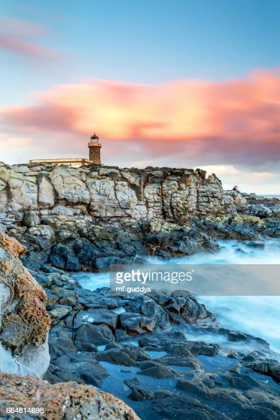 lanzarote - coast with an old lighthouse - lanzarote stock pictures, royalty-free photos & images