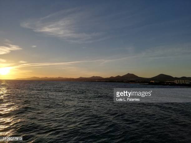 Lanzarote coastline at sunset