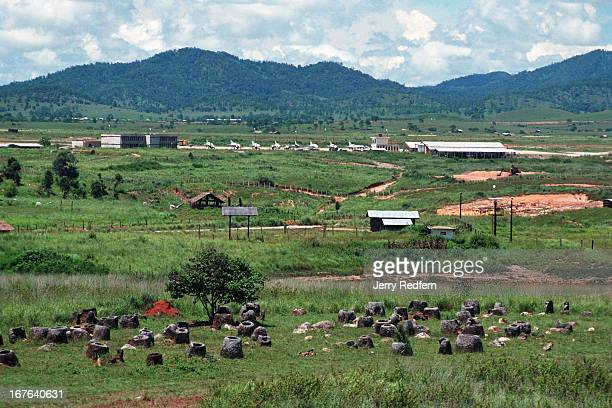 Lao air force base is plainly obvious behind a scattering of approximately 300 stone vessels which give the Plain of Jars its name The jars sit on a...