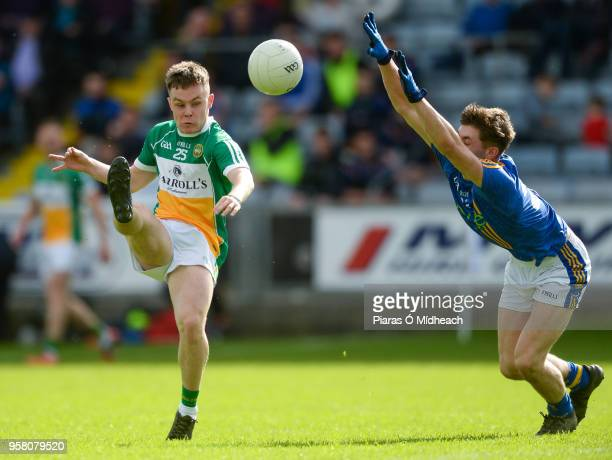 Laois Ireland 13 May 2018 Shane Tierney of Offaly in action against Saoirse Kearon of Wicklow during the Leinster GAA Football Senior Championship...
