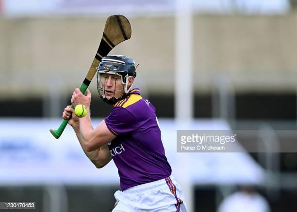 Laois , Ireland - 14 November 2020; Diarmuid O'Keeffe of Wexford during the GAA Hurling All-Ireland Senior Championship Qualifier Round 2 match...