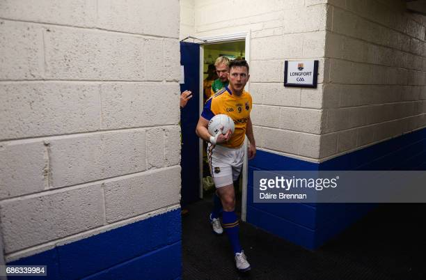 Laois Ireland 21 May 2017 Longford captain Michael Quinn leads his team out ahead of the Leinster GAA Football Senior Championship Round 1 match...