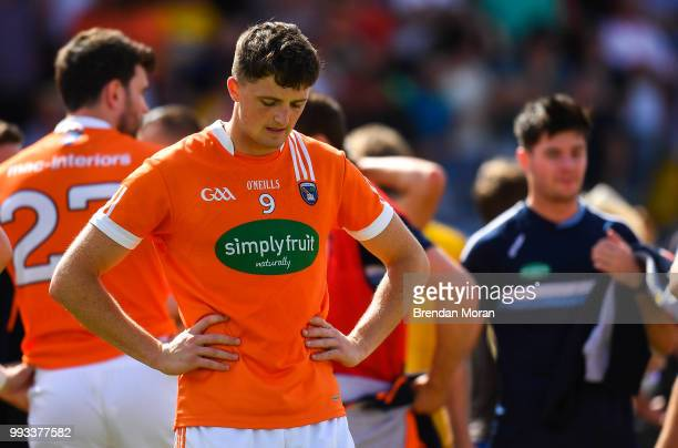 Laois Ireland 7 July 2018 A dejected Connaire Mackin of Armagh after the GAA Football AllIreland Senior Championship Round 4 match between Roscommon...
