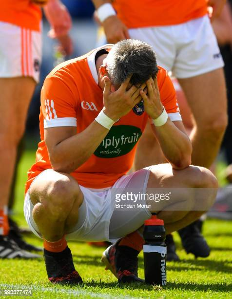 Laois Ireland 7 July 2018 A dejected Mark Shields of Armagh after the GAA Football AllIreland Senior Championship Round 4 match between Roscommon and...
