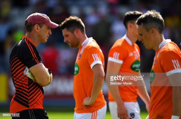 Laois Ireland 7 July 2018 Armagh manager Kieran McGeeney after the GAA Football AllIreland Senior Championship Round 4 match between Roscommon and...