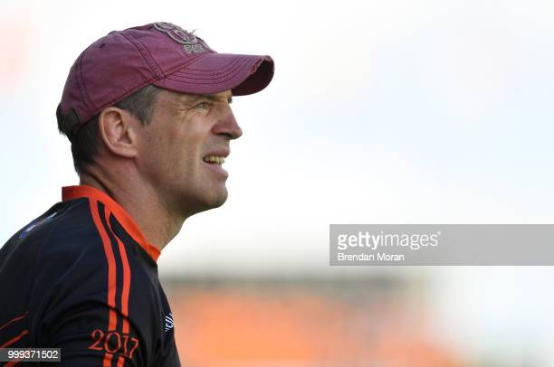 Laois Ireland 7 July 2018 Armagh manager Kieran McGeeney during the GAA Football AllIreland Senior Championship Round 4 match between Roscommon and...