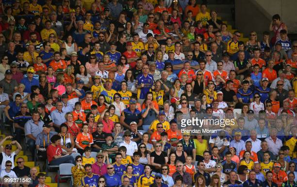 Laois Ireland 7 July 2018 Fans look on during the GAA Football AllIreland Senior Championship Round 4 match between Roscommon and Armagh at OMoore...