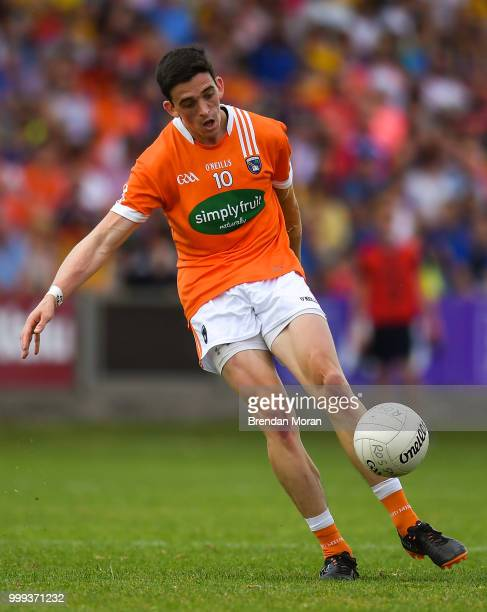 Laois Ireland 7 July 2018 Rory Grugan of Armagh during the GAA Football AllIreland Senior Championship Round 4 match between Roscommon and Armagh at...