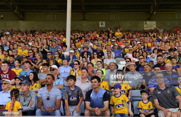 Laois Ireland 7 July 2018 Roscommon fans look on during the GAA Football AllIreland Senior Championship Round 4 match between Roscommon and Armagh at...