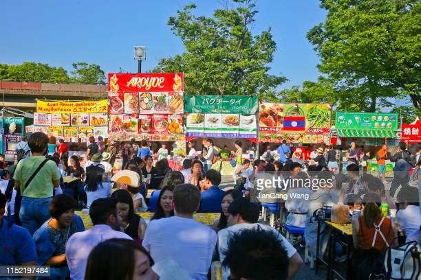 代々木公園のイベント広場でのラオス祭り - 代々木 ストックフォトと画像