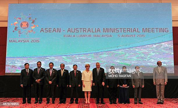 Laos Foreign Minister Thongloun Sisoulith Malaysia's Deputy Foreign Minister Reezal Merican Naina Merican Singapore's Permenant Representative to...