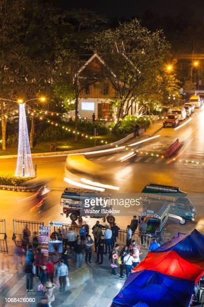 Laos, Luang Prabang, night market
