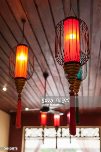 Laos, Luang Prabang, red lanterns