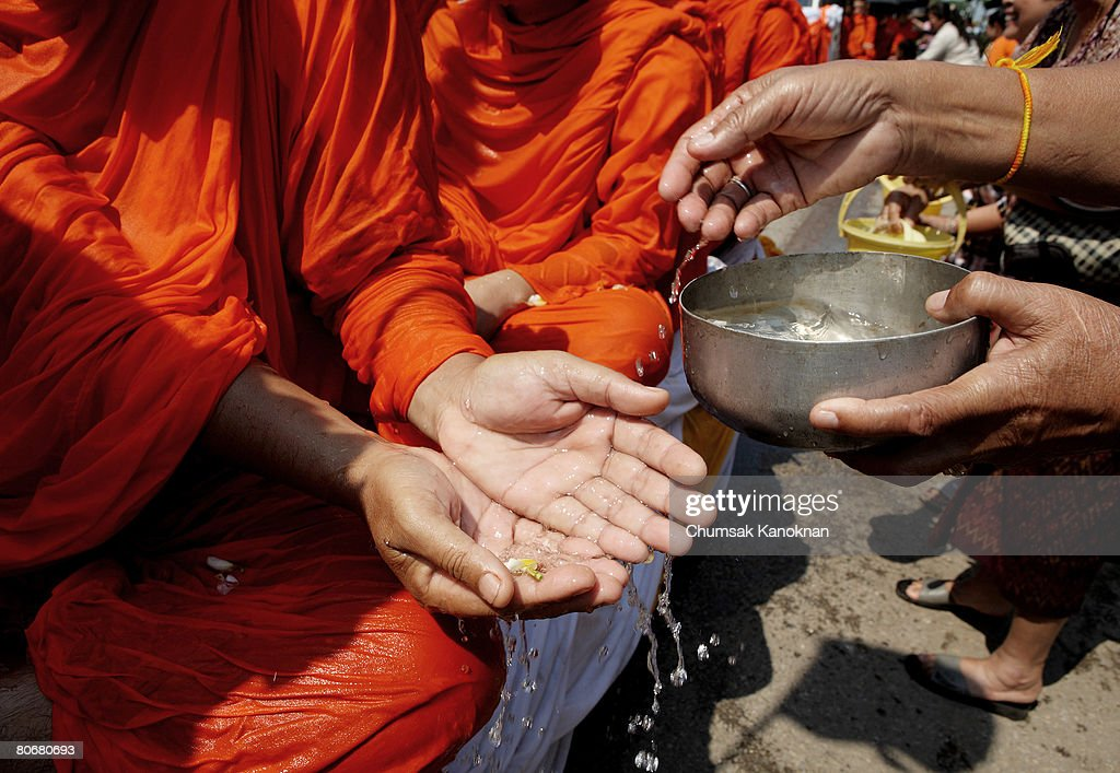 Laos Celebrates Songkran Water Festival : News Photo