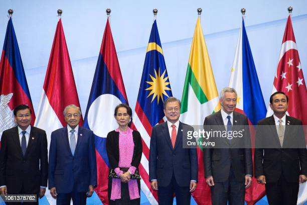November 14: Laos Prime Minister Thongloun Sisoulith, Malaysia's Prime Minister Mahathir Mohamad, Myanmar's State Counsellor Aung San Suu Kyi, South...