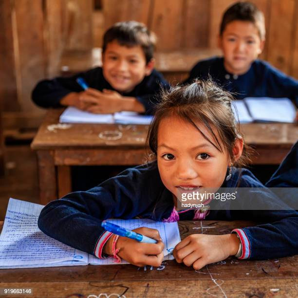 Laotian children in a primary school, village in Northern Laos