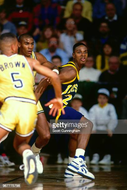 LaPhonso Ellis of Notre Dame posts up against Georgia Tech on February 25 1989 at the Alexander Memorial Coliseum in Atlanta Georgia NOTE TO USER...
