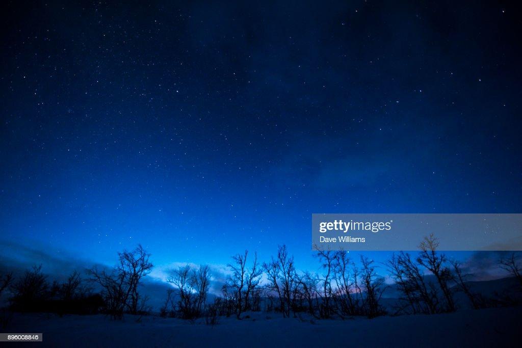 Lapland Night : Stock Photo