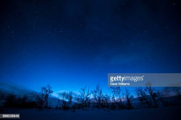 lapland night - evening stock photos and pictures