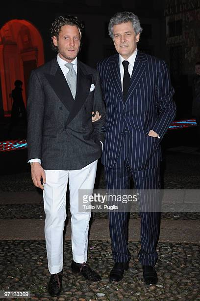 Lapo and Alain Elkann attend Vogueit during Milan Fashion Week Womenswear Autumn/Winter 2010 on February 26 2010 in Milan Italy
