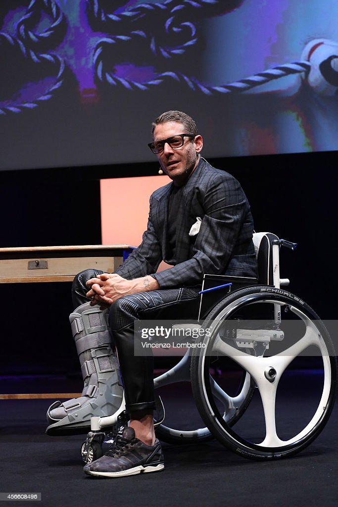 Lapo Elkan attends the IF! Italians Festival at Franco Parenti Theater on October 3, 2014 in Milan, Italy.
