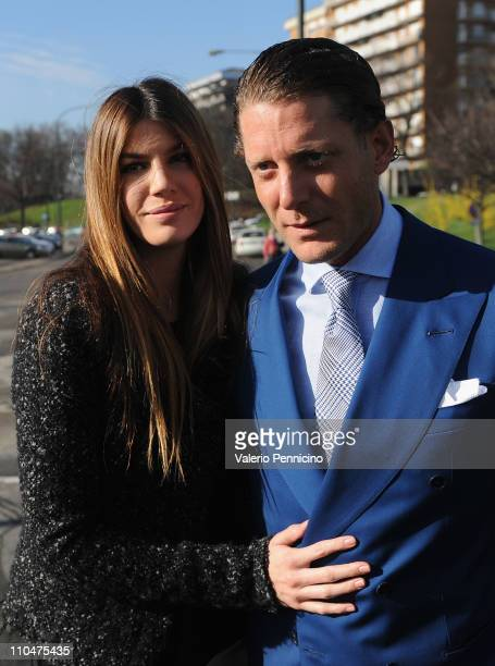 Lapo Elkann and Bianca Brandolini DAdda attend a ceremony to mark the 150th anniversary of Italy's unification at the new national museum of the...
