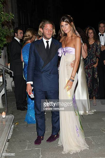 Lapo Elkann and Bianca Brandolini D'Adda attend the Valentino The Last Emperor Party during the 65th Venice Film Festival held at the Peggy...