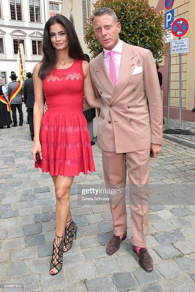 Wedding Of Hereditary Prince Franz Albrecht zu Oettingen-Spielberg And Cleopatra von Adelsheim In Oettingen