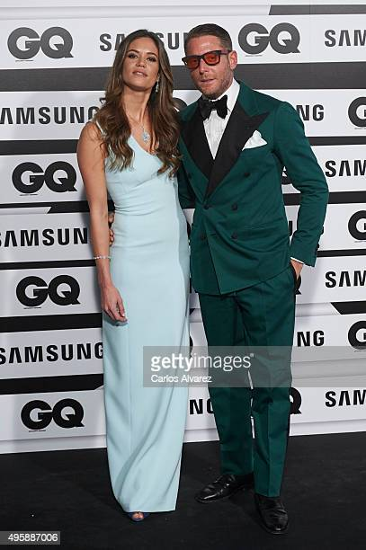 Lapo Elkann and Marina Penate attend the GQ Men of The Year 2015 Awards at the Palace Hotel on November 5 2015 in Madrid Spain
