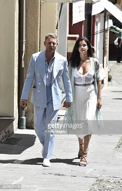 Lapo Elkann and Shermine Shahrivar are seen on June 24 2016 in Portofino Italy