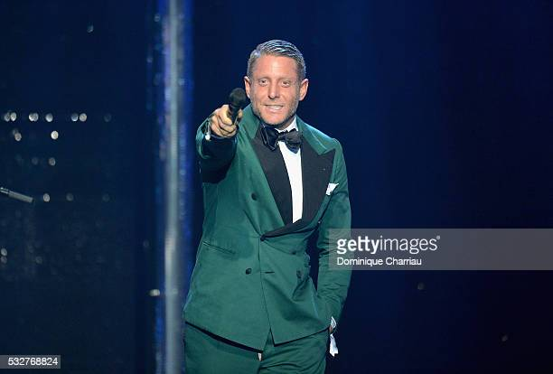Lapo Elkann appears on stage at the amfAR's 23rd Cinema Against AIDS Gala at Hotel du Cap-Eden-Roc on May 19, 2016 in Cap d'Antibes, France.
