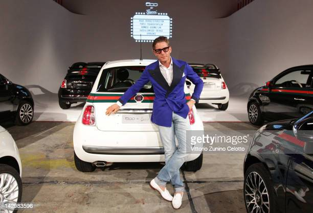 Lapo Elkann attend 500 by Gucci Short Film Collection cocktail party on April 16 2012 in Milan Italy