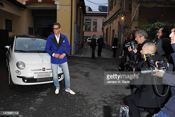 Lapo Elkann attends 500 by Gucci - Short Film Collection cocktail party on April 16, 2012 in Milan, Italy.