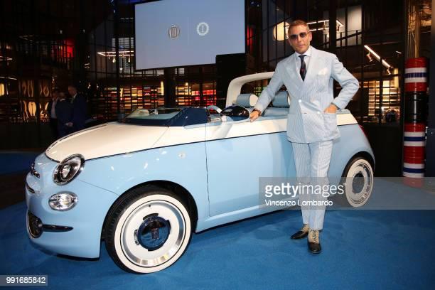 Lapo Elkann attends HAPPY BIRTHDAY FIAT 500 Event in Milan on July 4 2018 in Milan Italy