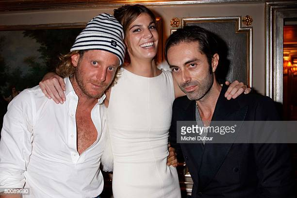 Lapo Elkann Bianca Brandolini and Giambattista Valli attends the Lou Doillon Party for Lee Cooper in Paris during the Fall/Winter 20082009...