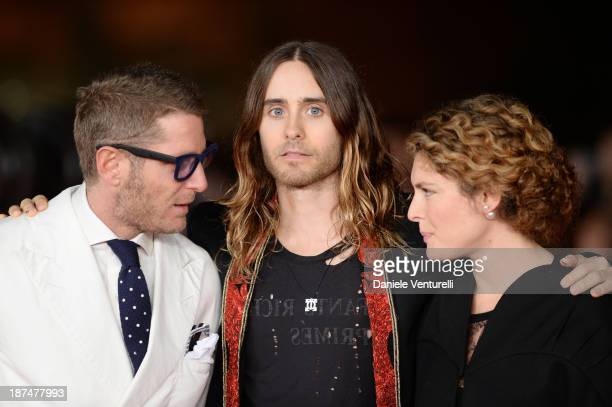 Lapo Elkann Jared Leto and Ginevra Elkann attend 'Dallas Buyers Club' Premiere during The 8th Rome Film Festival on November 9 2013 in Rome Italy