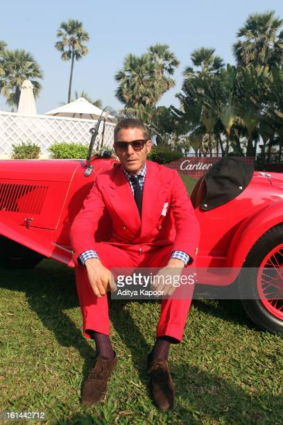 Lapo Elkann poses during the Cartier 'Travel With Style' Concours 2013 at Taj Lands End on February 10 2013 in Mumbai India