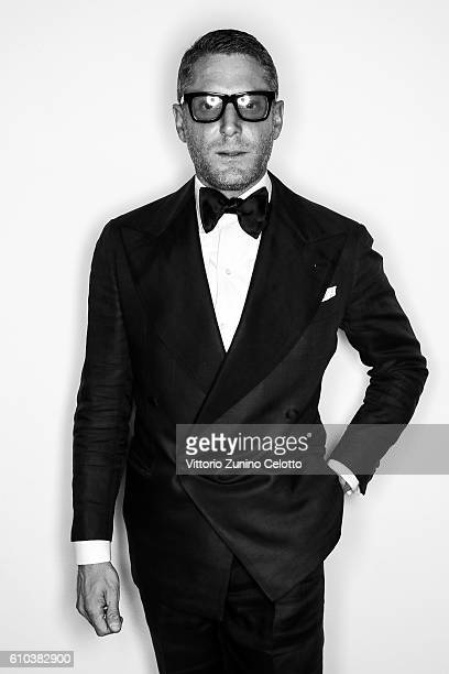 Lapo Elkann poses for a portrait during amfAR Milano 2016 at La Permanente on September 24 2016 in Milan Italy