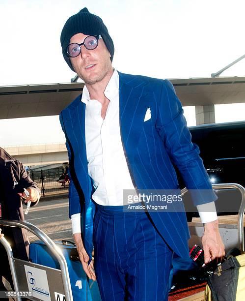 Lapo Elkann sighting at JFK Airport on November 16 2012 in New York City