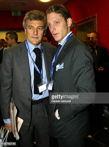 Lapo Elkann with his father Alain Elkann during Lapo Elkann File Photos September 28 Italy