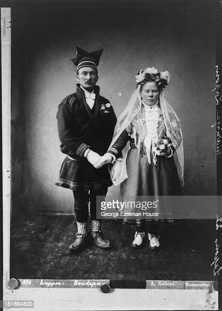 Lapons mariage/:516 Lapper:Brudepa-/A.Kalland. Hammerfest, between 1900 and 1919.