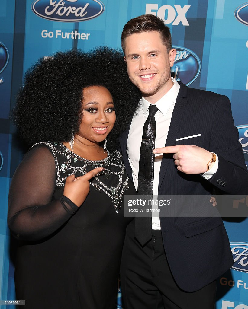 La'Porsha Renae and Trent Harmon attend FOX's 'American Idol' Finale For The Farewell Season at Dolby Theatre on April 7, 2016 in Hollywood, California.