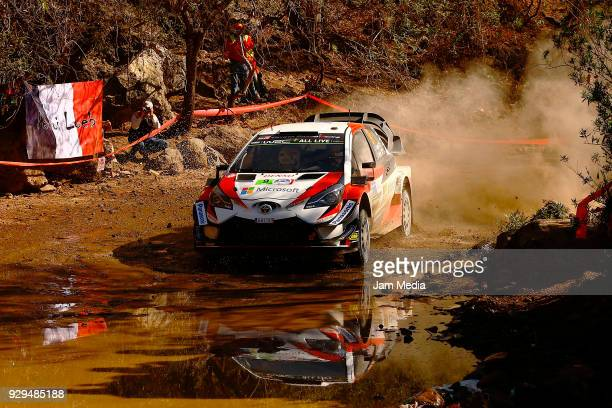 Lappi Esapekka and Ferm Janne of Toyota Gazzo Racing WRT drives during the Shakedown as a part of Day One of the FIA World Rally Championship Mexico...