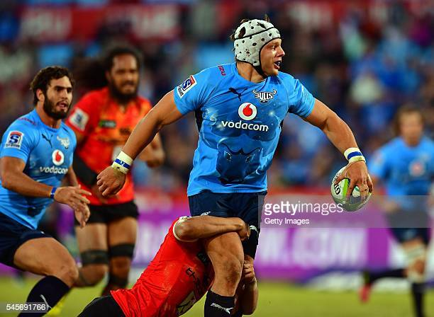 Lappies LAbuschagne of the Bullsduring the Super Rugby match between Vodacom Bulls and Sunwolves at Loftus Versfeld on July 09 2016 in Pretoria South...