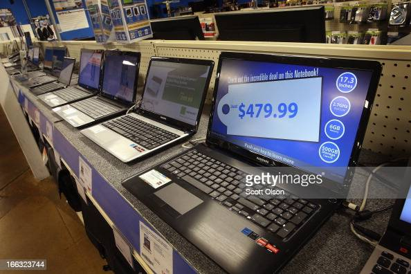 Laptop computers are offered for sale at a Tiger Direct
