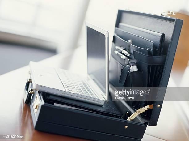 laptop in a briefcase