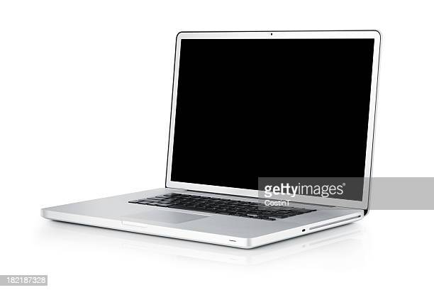 Laptop isolated on white;  with TS-E lens