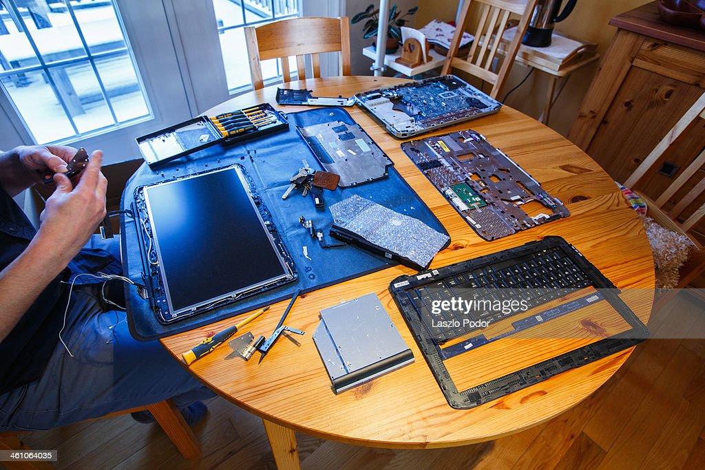 Laptop Repair : Bildbanksbilder